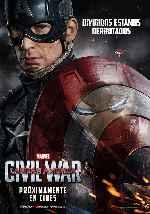 miniatura Capitan America Civil War V03 Por Franvilla cover carteles