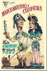miniatura Marco Antonio Y Cleopatra 1947 Por Lupro cover carteles