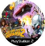 miniatura Destroy All Humans 2 Cd Custom Por Mierdareado cover ps2