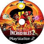 miniatura Los Increibles 2 La Amenaza Del Socavador Cd Custom V2 Por Johny1489 cover ps2
