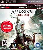 miniatura Assassins Creed 3 Gamestop Edition Frontal Por Humanfactor cover ps3