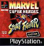 miniatura Marvel Super Heroes Vs Street Fighter Frontal Por Seaworld cover psx