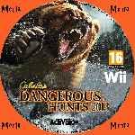 miniatura Cabelas Dangerous Hunts 2013 Cd Custom Por Menta cover wii
