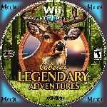 miniatura Cabelas Legendary Adventure Cd Custom Por Menta cover wii