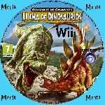 miniatura Combate De Gigantes Lucha De Dinosaurios Cd Custom Por Menta cover wii