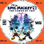 miniatura Disney Epic Mickey 2 The Power Of Two Cd Custom Por Menta cover wii
