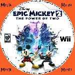 miniatura Disney Epic Mickey 2 The Power Of Two Cd Custom Por Menta cover wii