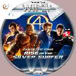 miniatura Fantastic Four Rise Of The Silver Surfer Cd Custom V3 Por Azufre cover wii
