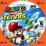 miniatura Mario Power Tennis Cd Custom V3 Por Menta cover wii