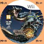 miniatura Monster Hunter 3 Cd Custom V4 Por Menta cover wii