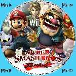 miniatura Super Smash Bros Brawl Cd Custom V5 Por Menta cover wii