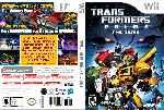 miniatura Transformers Prime The Game Custom Por Humanfactor cover wii