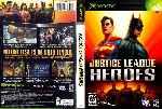 miniatura Justice League Heroes Dvd Custom Por Ubalsoft cover xbox