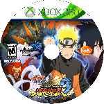 miniatura Naruto Shippuden Ultimate Ninja Storm 3 Cd Custom Por Angel Vengador cover xbox360