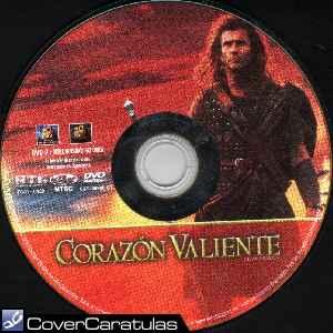 Corazon valiente region 4 etiqueta car tula cd 1995 Corazon valiente pelicula