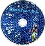 carátula bluray de Monsters Inc - Disco - Region A