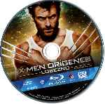 carátula bluray de X-men Origenes - Lobezno - Disco