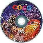 carátula bluray de Coco - 2017 - Disco