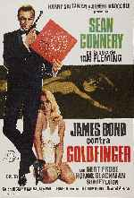 carátula carteles de James Bond Contra Goldfinger