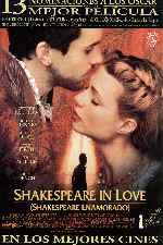 carátula carteles de Shakespeare In Love - Shakespeare Enamorado
