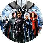carátula cd de X-men 3 - La Decision Final - Custom - V4