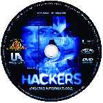 carátula cd de Hackers - Piratas Informaticos - Custom - V2