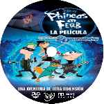 carátula cd de Phineas Y Ferb A Traves De La 2a Dimension - Custom