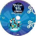 carátula cd de Phineas Y Ferb A Traves De La 2a Dimension - Custom - V2