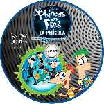 carátula cd de Phineas Y Ferb A Traves De La 2a Dimension - Custom - V4