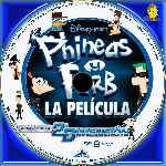 carátula cd de Phineas Y Ferb A Traves De La 2a Dimension - Custom - V5