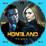 carátula cd de Homeland - Temporada 02 - Custom - V2