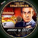 carátula cd de James Bond Contra Goldfinger - Custom - V3