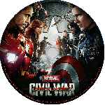 carátula cd de Capitan America - Civil War - Custom - V7