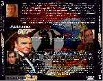 carátula trasera de divx de Coleccion James Bond 007 - 03 - Roger Moore - Sean Connery - Timothy Dalton