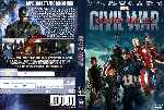 carátula dvd de Capitan America - Civil War - Custom - V4
