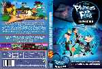 carátula dvd de Phineas Y Ferb A Traves De La 2a Dimension - Custom