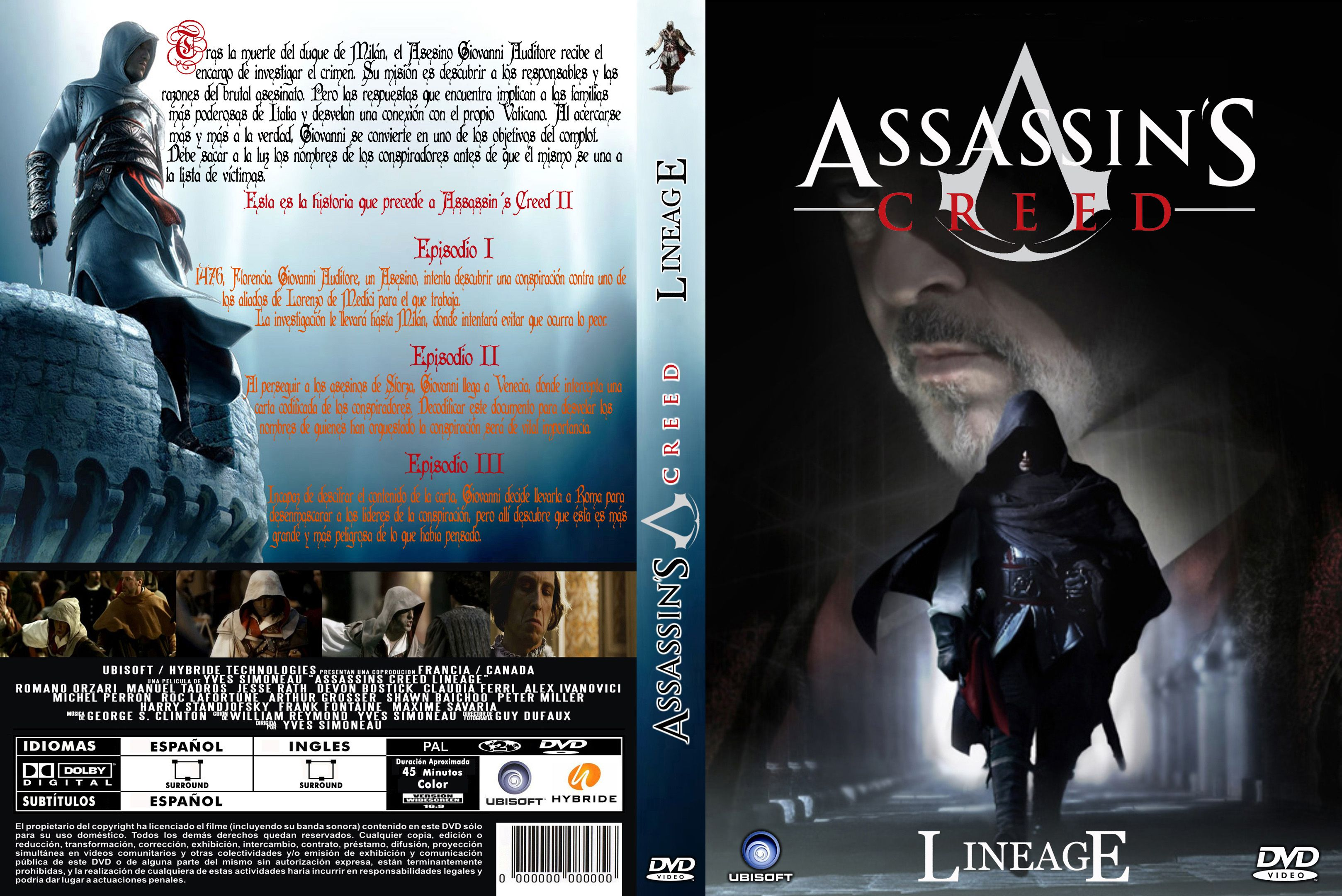 Caratulas Assassin S Creed Lineage 2009