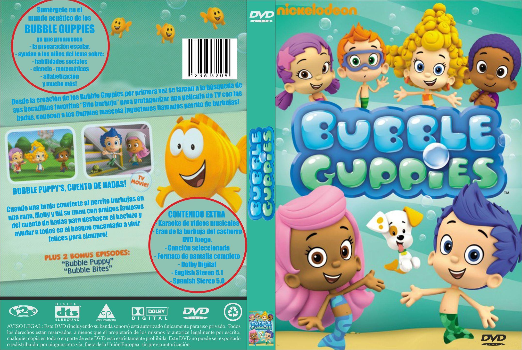 Bubble Guppies: Carátula del DVD de los Bubble Guppies