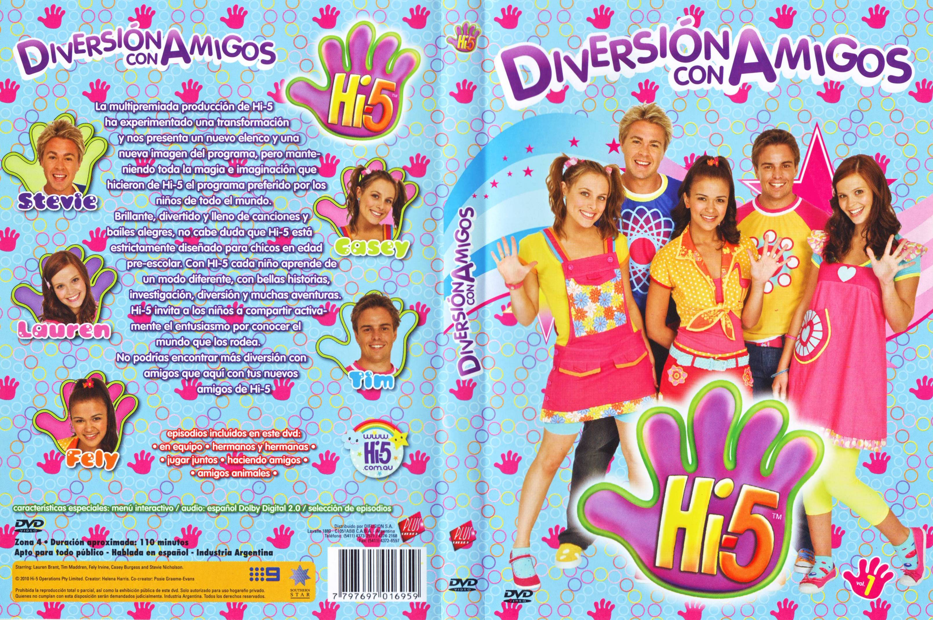 Hi-5 Diversion Con Amigos Dvd Elenco De Australia Original (DVDs) a ...