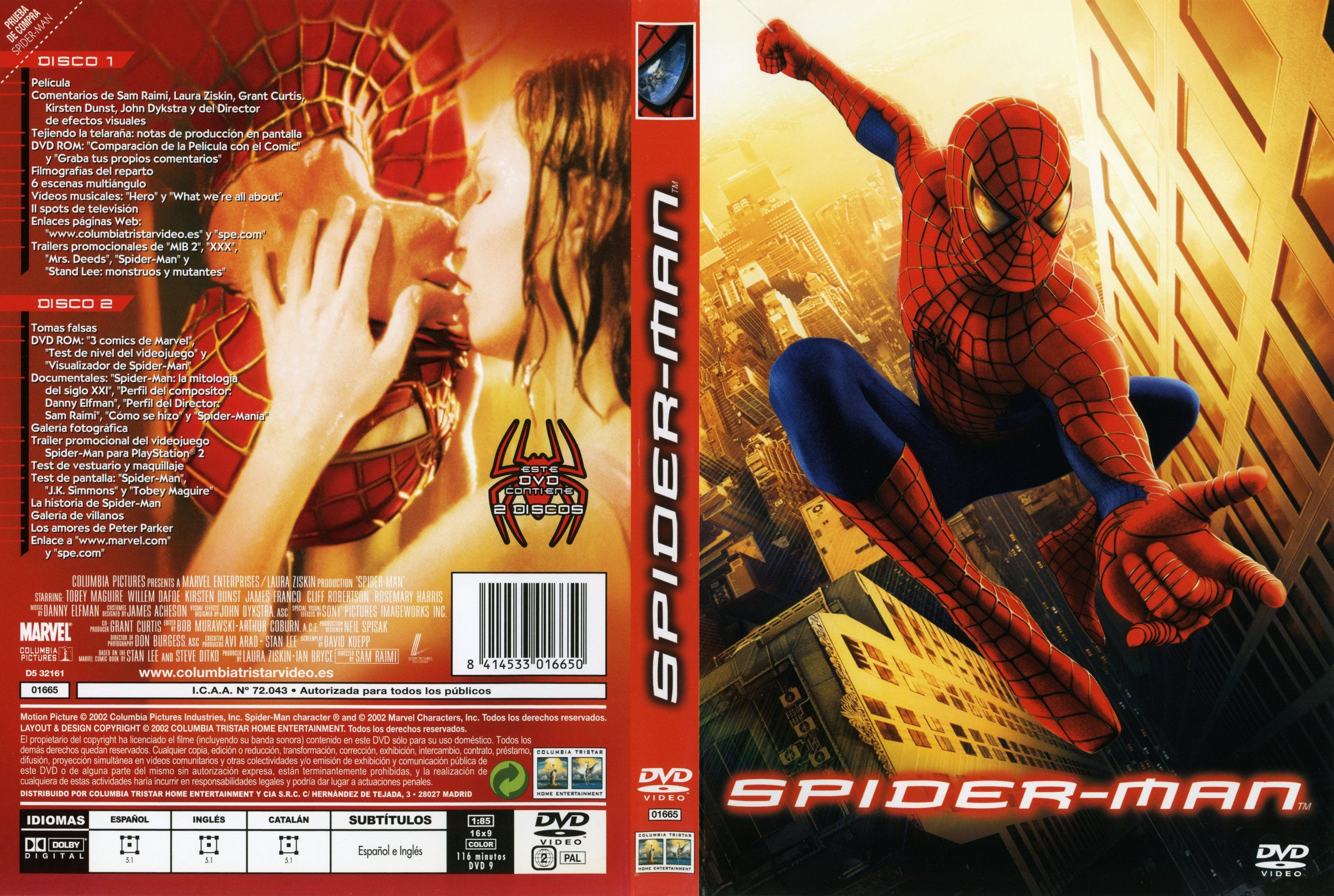Spider Man 1 DVD Cover