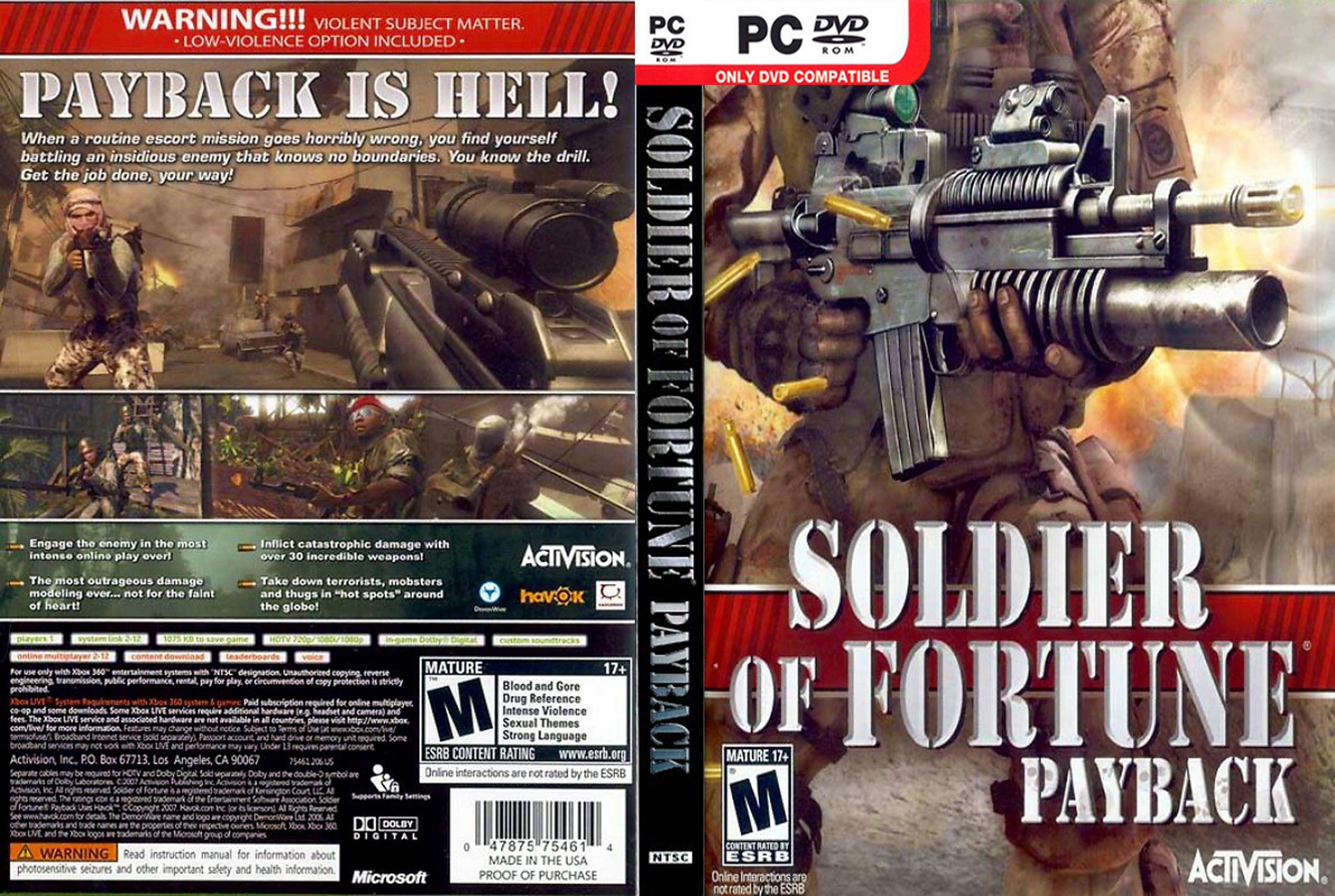 Test du jeu soldier of fortune: payback sur pc jeuxvideo. Com.