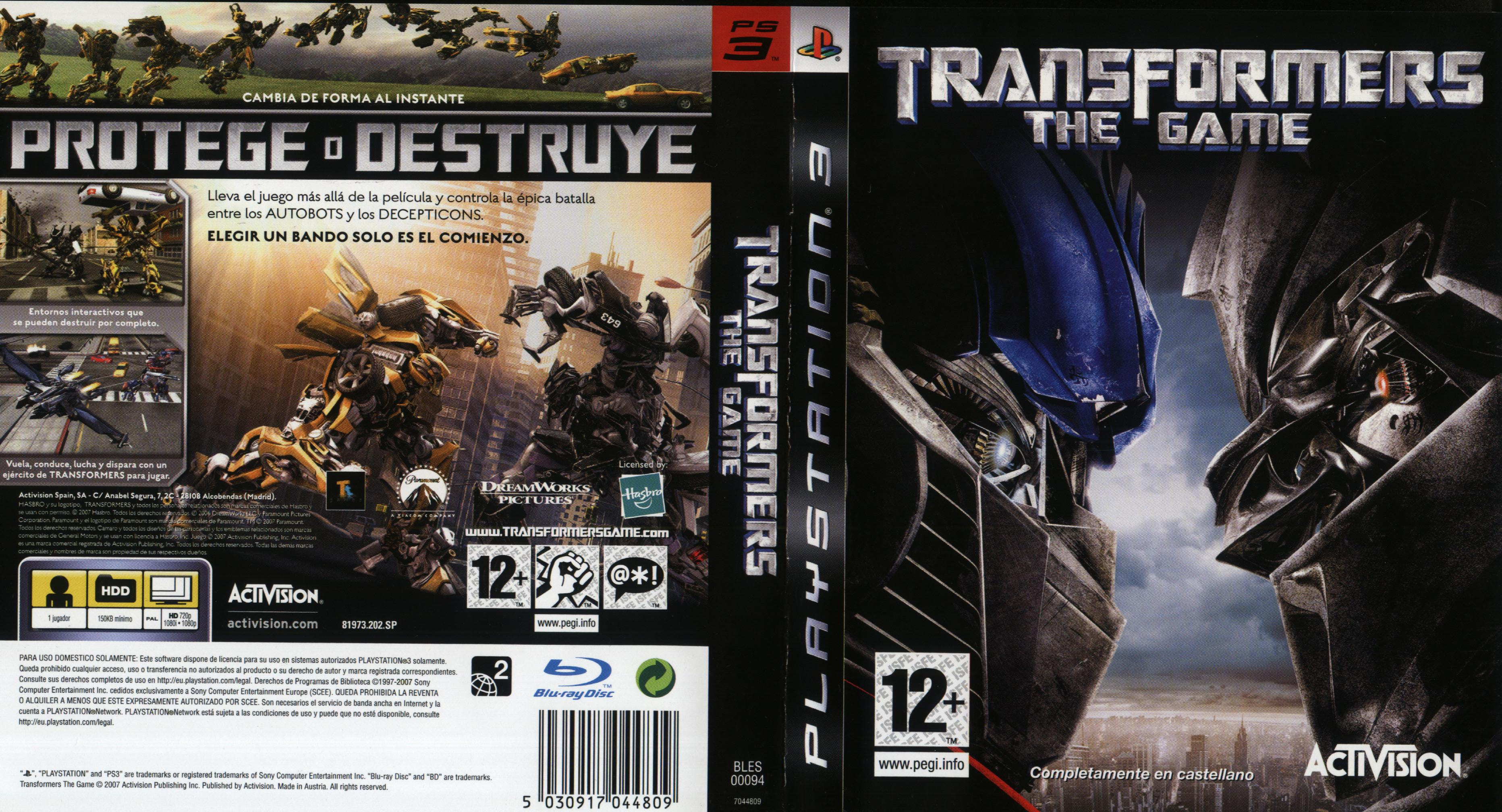 Transformers 3 The Game Ps3